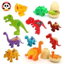 Grandes blocos de construção jurássico parque animais acessórios dinossauro brontossauro compatibel brinquedo tijolo para crianças presente do bebê brinquedos