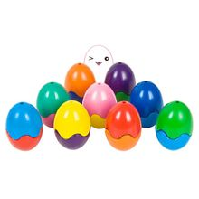 9 Colors Egg Shape Crayons Non Toxic Washable Painting Drawing Wax for Baby Kids