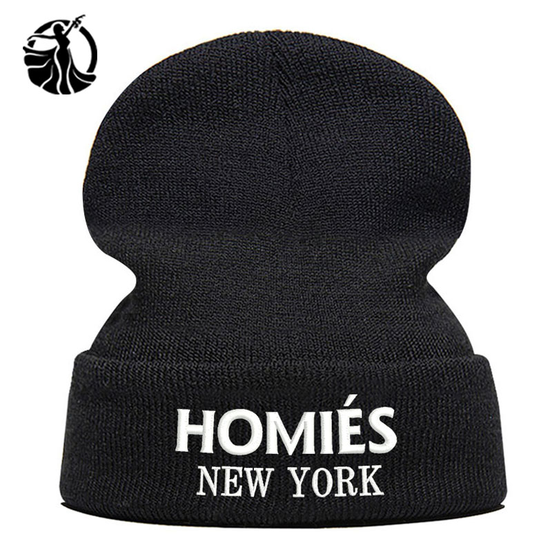 Beanie Hat Skullie Cap Slouchy Winter Embroidery Cool Punk Men Women Teen Street Dance Funny Hip-hop Personalized - Homies