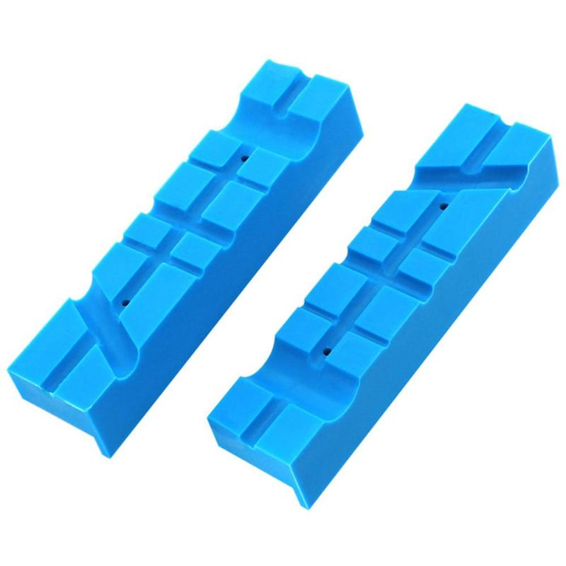 2pcs Magnetic Vise Protective Jaws Face Pads Soft Rubber Protector Accessories Operation Simple And Use Conveninently