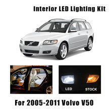 16 stücke Weiße Fehlerlose LED Innen Glühlampen Kit Fit Für 2005-2008 2009 2010 2011 Volvo V50 karte Fracht Tür Lizenz Lampe