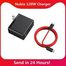 Nubia – chargeur rapide 120W 120W, adaptateur dalimentation GaN RedMagic 120W, câble 6A, Compatible avec protocole pd/qc, Original