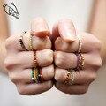 Momiji богемные кольца из натурального камня, ювелирные изделия, много цветов, ручная работа, модные подарки, женские свадебные кольца для дево...