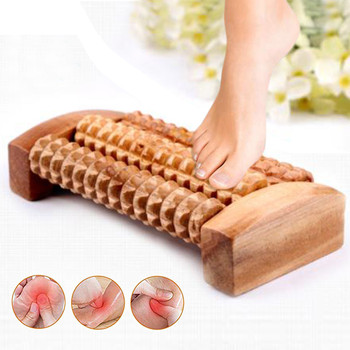 Деревянный ролик для ног, деревообрабатывающий рефлекторный массаж, расслабляющий массажер, пресс-ролик, массажный пресс для ног, ролик DE2