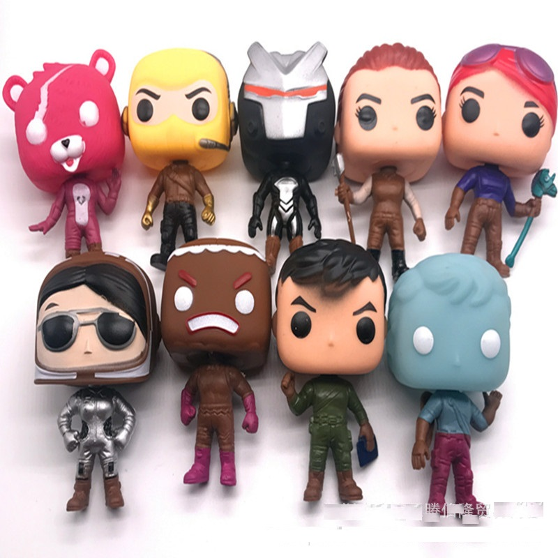 Image 4 - Funko POP 9pcs/lot Fortnit The Fortress night Vinyl Dolls Action Figure Collection Articles Toys Life Decoration Children GiftsAction & Toy Figures   -