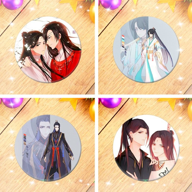 New Stock Tian Guan Ci Fu 天官赐福 Metal Badge Brooch Pin Collect Gift Limited