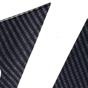 Image 5 - JEAZEA 4 قطعة ألياف الكربون ABS الداخلية مقبض داخلي إطار غطاء تقليم الديكور صالح لتويوتا RAV4 2019 اكسسوارات السيارات