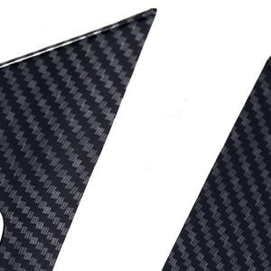 Image 5 - JEAZEA 4Pcs סיבי פחמן ABS פנים פנימי ידית כיסוי מסגרת לקצץ קישוט Fit עבור טויוטה RAV4 2019 אביזרי רכב
