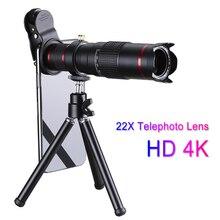 プロフェッショナル携帯電話携帯電話レンズhd 4 18k 22xカメラズーム光学望遠鏡望遠レンズサムスンiphoneのhuawei社xiaomi