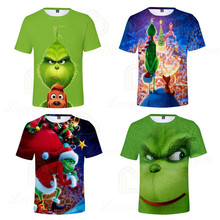 2020 Summer The Grinch Boy Girl T-shirt Kids 3D Printed T-shirts Children Casual Tshirt Short Sleeve Pullover Punk T Shirt embroidered pullover t shirt