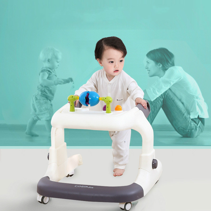 bebe walker com musica mao empurrar bebe pode tomar um passeio multifuncional anti rollover walker equilibrio