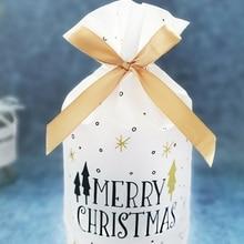 новый год 2021 Рождественский подарок сумка Рождественская Свадебная сумка для конфет вечерние сумки на шнурке рождественские украшения для...