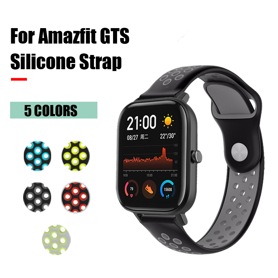Silicone Watch Band For Amazfit GTS Strap Replacement Bracelet For Xiaomi Huami Amazfit GTS Smart Watch 20mm Wristband Accessory