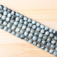 Natural Hawkeye 4/6/8/10 mm Natural Stone Bead Round Bead Spacer Jewelry Bead Loose Beads For Jewelry Making DIY Bracelet