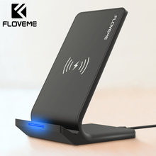 FLOVEME Qi Wireless Charger สำหรับ iPhone X XS XR 8 10W USB Fast Charger ชาร์จไร้สายสำหรับ Samsung galaxy S8 S9 หมาย(China)