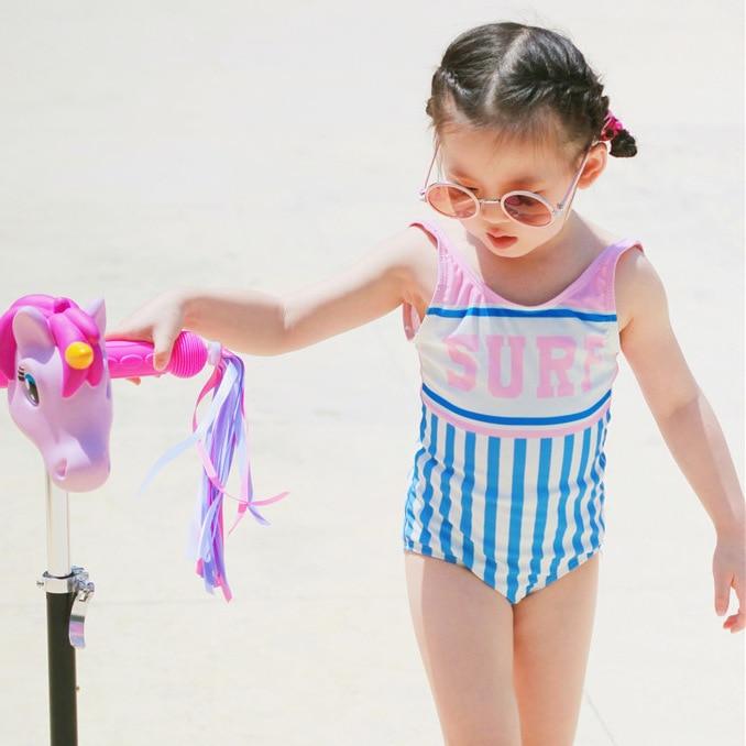 CHILDREN'S Swimwear Girls Baby Infants Child One-piece Swimming Suit Big Boy Triangular Cute Spa Resort Swimwear