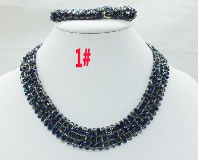 Новая цена-Африка, Нигерия, самый популярный ювелирный набор с кристаллами для невесты - Окраска металла: 1