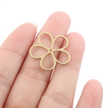 10pcs Raw Brass Hollow Open Plum Blossom Flower Pendant Jewelry Earring Necklace Jewelry Making Findings 23x23mm dry flower diy raw stone necklace