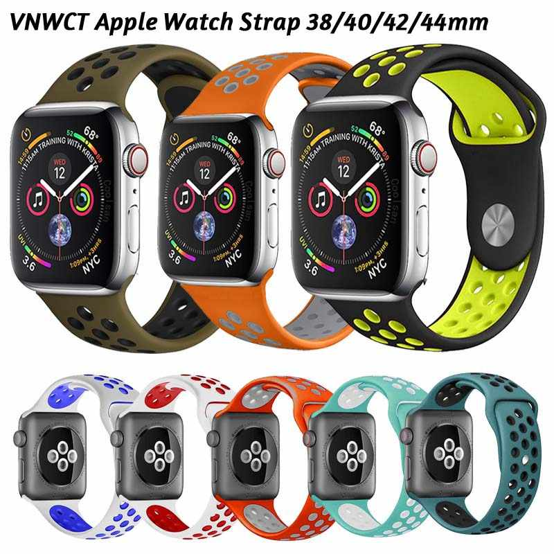 Soft watch strap for apple watch band 44mm 40mm apple watch strap iWatch 4/3/2/1 42mm 38mm Watchband Replacement Bracelet strap