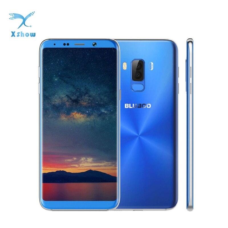 Presale BLUBOO S8+ 6.0'' 18:9 Full Display Smartphone MTK6750T Octa Core 4G RAM 64G ROM Android 7.0 Dual Rear Camera Fingerprint