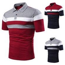 2019 New Fashion Men Striped Slim Fit Tshirt Clothing Summer Streetwear Casual Mens T-Shirts