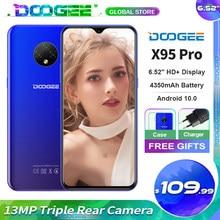 Doogee x95 pro telefone móvel helio a20 android10 os 13mp triplo câmera 6.52 hd hd + 4350mah bateria reconhecimento facial 4g smartphone