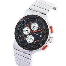 Męski luksusowy zegarek kwarcowy klasyczny zegarek ze stalowym paskiem