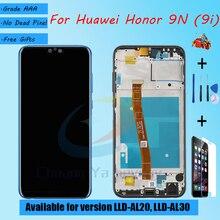 Para Huawei Honor 9N LLD AL20 LLD AL30 montaje de pantalla LCD con funda frontal cristal táctil, con piezas de reparación para Honor 9i pantalla LCD
