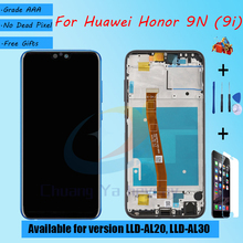 Pour Huawei Honor 9N LLD AL20 LLD AL30 écran LCD assemblée avec verre tactile de boîtier avant, avec pièces de réparation pour écran LCD Honor 9i