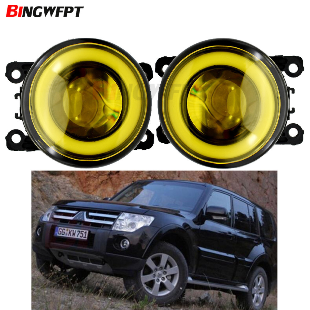 2x Car Accessories LED Front Fog <font><b>Light</b></font> Angel Eye H11 for <font><b>Mitsubishi</b></font> <font><b>Outlander</b></font> PHEV Sport RVR Eclipse ASX Pajero 2007-2019 image