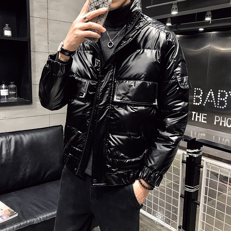 2019 Winter Bright Cotton Clothing Male Korean Version Of Down Cotton Trend Men's Warm Jacket