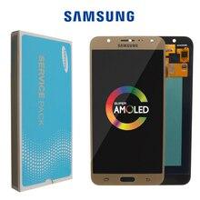 شاشة لمس LCD ، 100% بوصة ، لهاتف SAMSUNG Galaxy J7 5.5 J700 J700F J700M J700H ، أصلي 2015