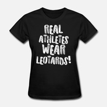 Men t shirt Gymnastics Real Athletes Wear Leotards White Gymnast Light tshirts Women-tshirt(China)