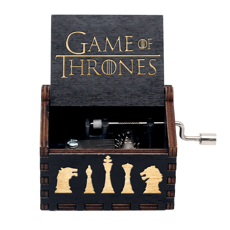 VIP Music Box Wooden Hand Crank Game Of Throne Star Wars Birthday Gift Christmas Gift Colorful Ghildren Gifts Wedding Trinkets
