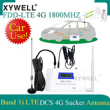 Car Use FDD LTE 1800 4G Mobile Signal Booster Repeater DCS1800Mhz Cellphone Cellular GSM 1800 Cellular Amplifier+ Sucker Antenna