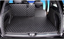 Special car trunk mats wholy surrounded for Mercedes GLC 300 2016 waterproof durable boot carpets for Benz GLC300 2015 best quality special trunk mats waterproof durable leather carpets for toyota highlander 2014 2015 2016 2017