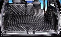 Spezielle Auto Stamm Matten Wholy Umgeben für Mercedes GLC 300 2016 Wasserdichte Durable Boot Teppiche für Benz GLC300 2015 auf