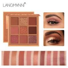 Moda sombra paleta 9 kleuren matte oogschaduw paleta glitter oogschaduw maquiagem naakt fazer conjunto coreia cosmetica tslm1