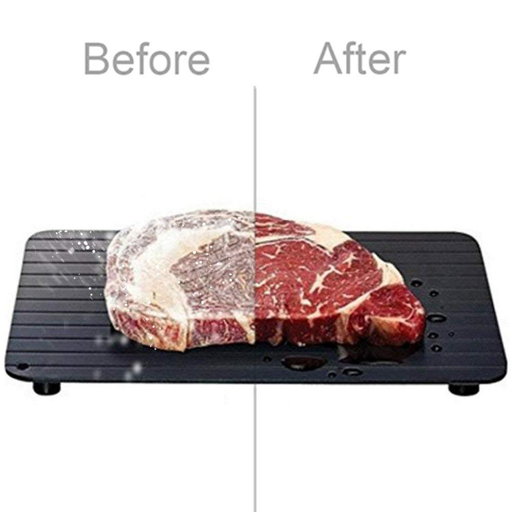 C-Fast Defrosting Tray Thaw Household Frozen Food Meat Fruit Quick Defrosting Plate Board Defrost Kitchen Gadget Tool Chopping B