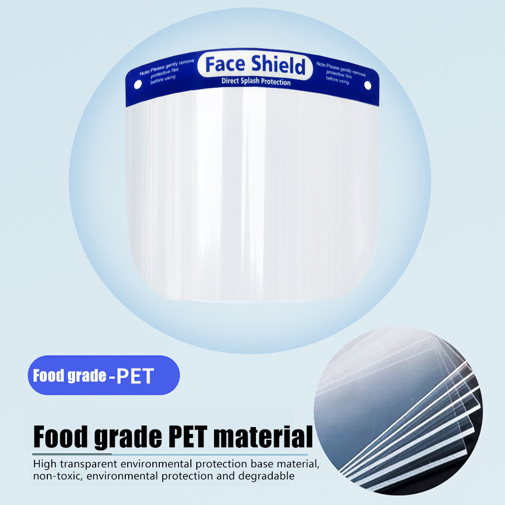 H404ae971e3d24a1f881bb241fc0e4f585 4pcs Outdoor Windproof Protection Clear Face Cover Reusable Kitchen Safety Cooking Anti-Oil Splash Household Tools