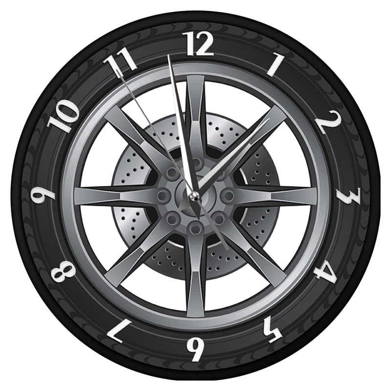 <font><b>Car</b></font> Service Repair Garage Owner Tire <font><b>Wheel</b></font> Custom <font><b>Car</b></font> Auto Wall <font><b>Clock</b></font> Watch image