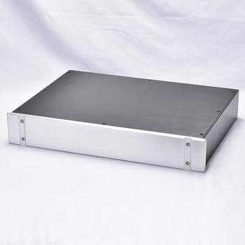 Full aluminum DIY power amplifier chassis DAC enclosure HIFI preamplifier box 430*70*308/358mm