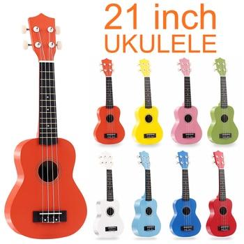 Acoustic Ukulele  21 Soprano Carbon Fiber Ukulele Colorful Acoustic 4 Strings Hawaii Guitar Instrument for Beginners hanknn 21 inch ukulele guitar soprano mahogany 4 strings round angle hawaii ukulele guitar ukelele acoustic musical instruments