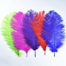 10 шт/лот цветные страусиные перья для поделок 35 40 см 14 16