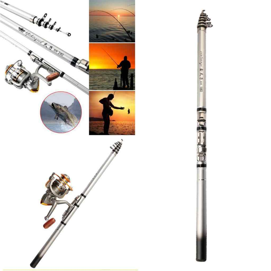 Collapsible Rock Fishing Rod Carbon Fiber Telescopic Backpacking Spinning Fishing Pole Carp Trout Fish Gear Fishing Rods Aliexpress
