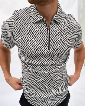 2021 Summer New Twill Men Polo Shirt Short Sleeve Oversized Loose Zipper Color Matching Clothes Luxury Male Tee Shirts Trip 1