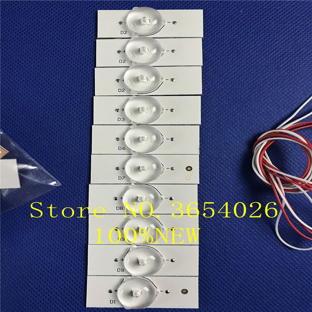 100%NEW 80pcs Led TV Lighting Lamp Beads 3V Brand-new For TCL ROWA Creative Wilson Konka CHANGHONG Assembly Machine