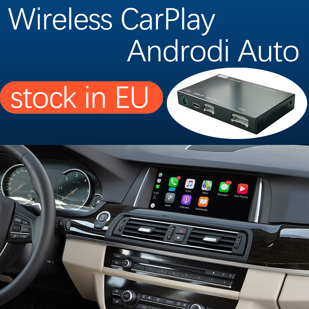 Wireless Apple CarPlay Android Auto for BMW 5 7 Series F10 F11 F07 GT F01 F02 F03 F04 2009-2016, with Mirror Link Function(China)