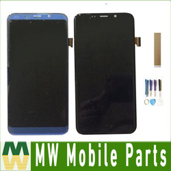 Original For Bluboo S8 plus S8 LCD Display With Touch Screen Sensor Glass Digitizer Assembly Black Blue With Tools Tape