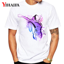 Summer T-Shirt 3D Print Mens Womens Dancing Girl Fashion Graphic Tees Casual White Tee Shirt Tops O-Neck Plus Size T Shirts недорого